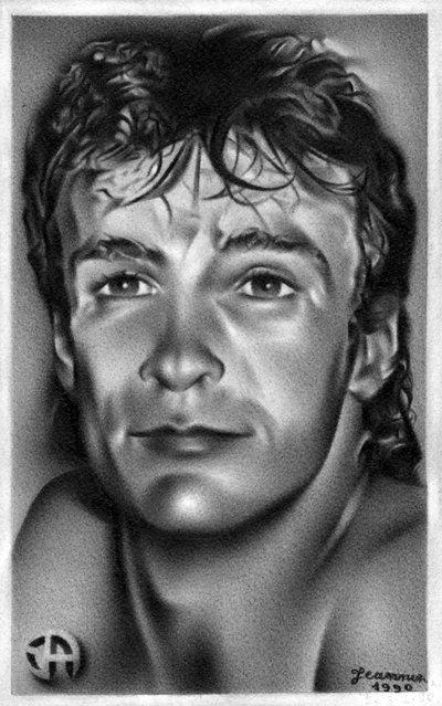 Autoportrait -1990- dans crayon autoportrait-4-