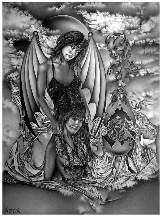 Mi-Ange , Mi-Démone . dans crayon mi-ange-mi-demone-81