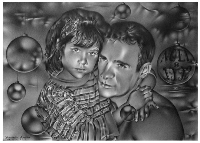 Père et fille , la tendresse. dans crayon pere-et-fille-7